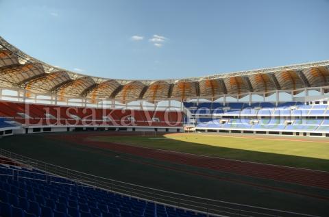 National Heroes Stadium ; Lusaka ; Zambia : Soccer ; Football ; Sports ; athletics ; construction