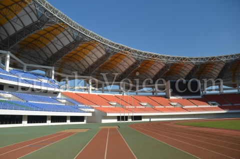 Pole Jump facilities inside the National Heroes Stadium