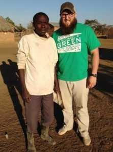 First Baptist Church youth pastor Eric Trout met with several Zambian natives during his trip to Zambia.