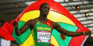 Grenada's Kirani James smashes 400m record
