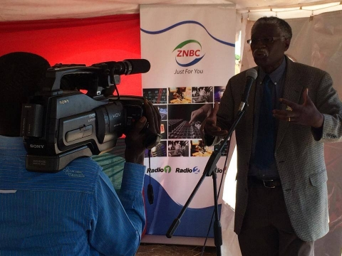 Launch of the Ndola dual cast transmitter by Hon. Joseph Katema Minister of Information and Broadcasting Services