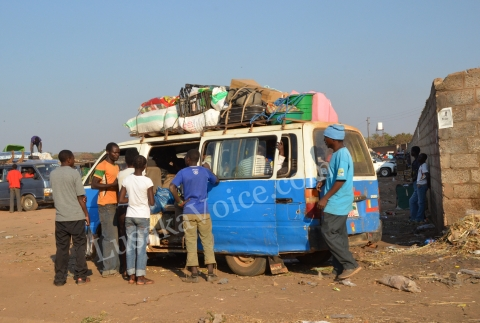 Minibus ; bus ; transportation ; Lusaka ; Travel