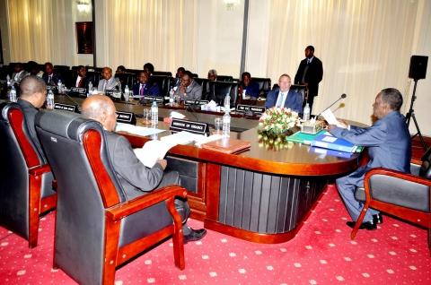 President Sata addresses Cabinet meeting