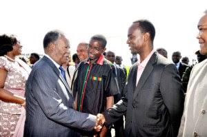 President Sata with son Mulenga