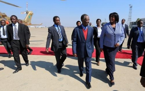 Sata visiting Son in South Africa