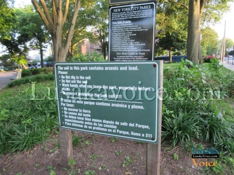 Washington Fellowship, Week 2 update - Notice at the arsenic and lead poisoned play park - Lusakavoice.com