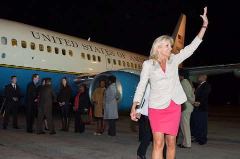 Wheels down in Zambia, where Dr. Biden is kicking off a three-country trip to highlight women's empowerment