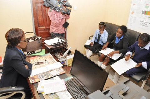 Dr Kaseba  during the Teachers/Community Leaders/Pupils Mentorship Training Camp at Chinsali Girls Secondary School.