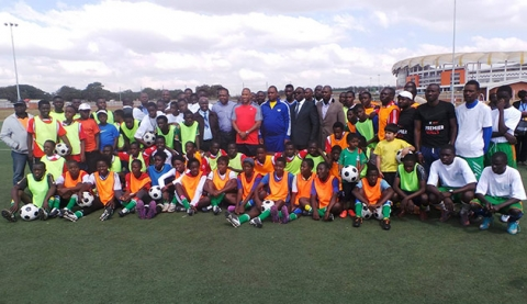 Football legend visits Zambia's Olympic Youth Development Centre
