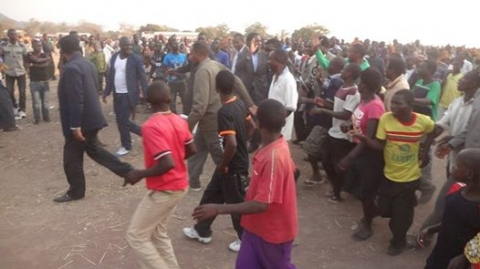HH leaving the Ubwilile Traditional Ceremony grounds in Chiengi District Luapula Province.