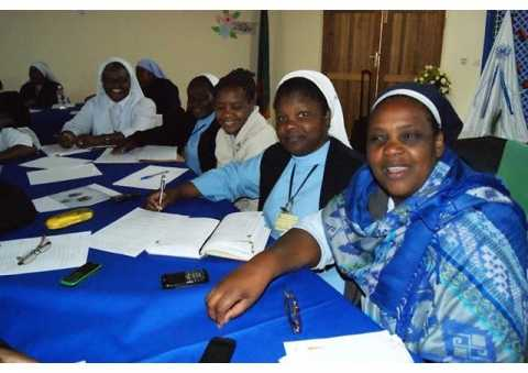 Some of the religious sisters attending the ACWECA General Assembly in Lusaka, Zambia