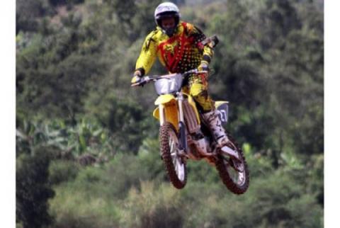Uganda National Motocross team captain Arthur Blick