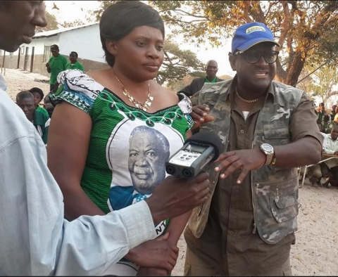 ZAMBEZI WEST PARLIAMENTARY BYE ELECTION- Campaign Manager Wilbur Simuusa introduces PF candidate Christabel Ngimbu