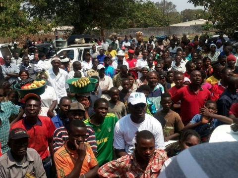 Geoffrey Bwalya Mwamba - GBM addressing Kasama Residents August 2014