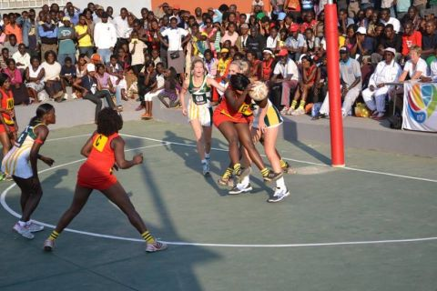 Photo- ©Kawowo Sports : BOBBY KABANGOThe She Cranes in earlier action
