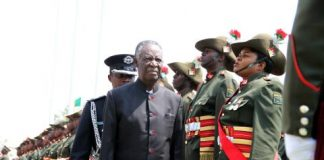 President Sata inspects a guard of honour during the opening of parliament on September 19, 2014 -Picture by THOMAS NSAMA