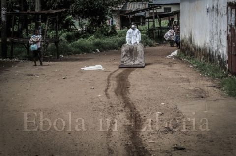 Bedding and other items are removed from the victim's homes and destroyed - Ebola crisis in Liberia
