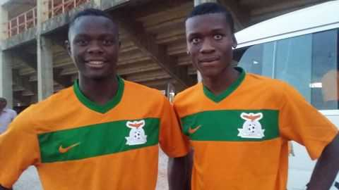 Patson Daka (L) and Changwe Kalale have been instrumental in the Zambia Under Seventeen's qualification to the Africa cup finals in Niger next year.