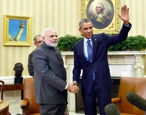 Prime Minister Narendra Modi with US President Barack Obama. The two leaders have announced to strengthen India-US relations after their first meeting.