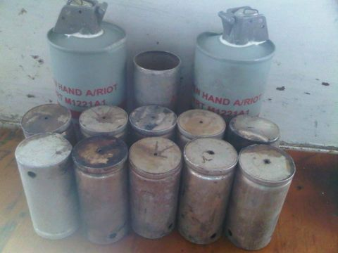 Remains of teargas canisters used by Zambia police on UNZA students - UNZA Network