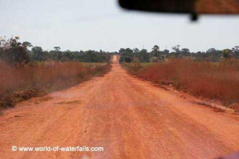 The dusty Kawambwa-Mporokoso Road