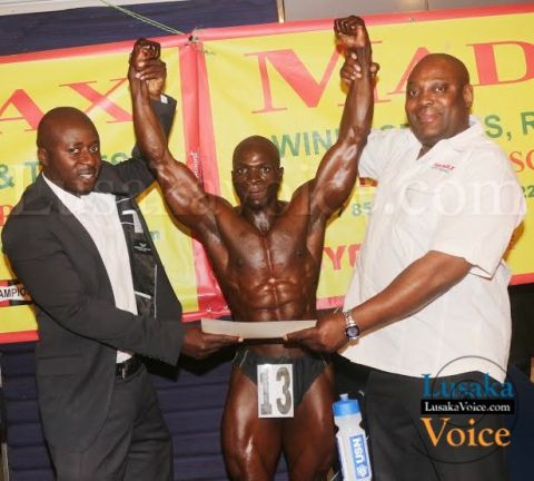 from left to right- Zambia Body Building Federation President Dan Mkandawire, Dyman Phiri and MADMAX Marketing Manager Maboshe Nyambe - Lusakavoice.comfrom left to right- Zambia Body Building Federation President Dan Mkandawire, Dyman Phiri and MADMAX Marketing Manager Maboshe Nyambe - Lusakavoice.com