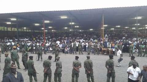 Edgar Lungu arrives to the largest security cordon seen so far