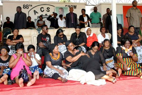 First Lady once more joins mourners at Show Grounds