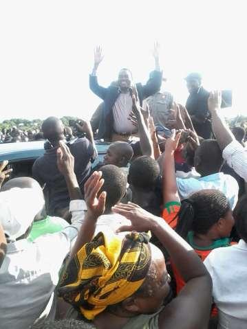 HH his last stop yesterday was kwahae kwa Mongu
