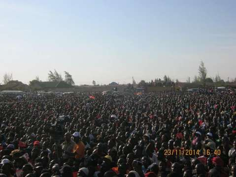 HH rally at Twashuka Ground in Kanyama Nov 23 2014