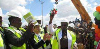 His Excellency Mr. Akio Egawa, Ambassador of Japan to Republic of Zambia, Hon. Emerine Kabanshi, MP, Minister of Local Government and Housing, His Worship Daniel Chisenga, Mayor of Lusaka City.