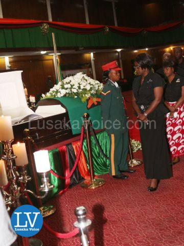 Airtel CEO, Charity Lumpa, pays her last respects to the Zambian President Michael Chilufya Sata