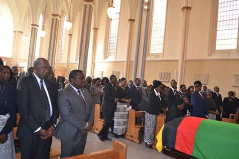 Ministers-Funeral held for Sata in UK