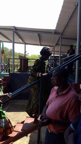 PF Chairperson Inonge Wina arrives to a thunderous welcome at the main arena