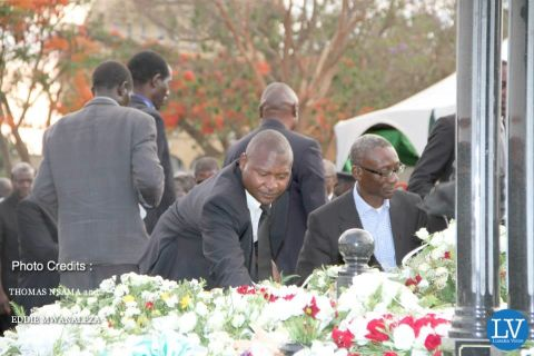 PRESIDENT SATA PUT TO REST IN PICTURES BY EDDIE AND THOMAS  -- Fr Bwalya & Chipimo