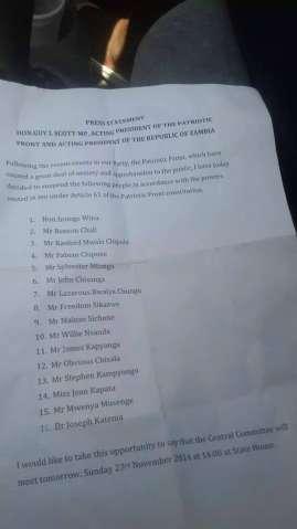Scott suspends 16 Central Committee members