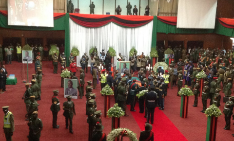 Funeral Ceremony Michael Sata's body returns to Zambia