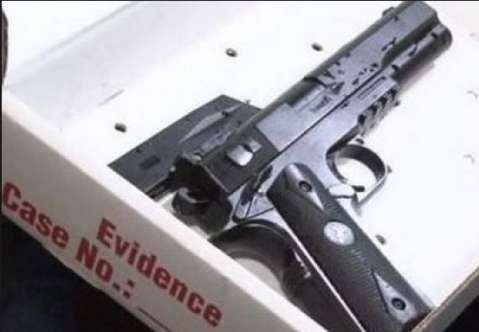 Toy gun allegedly held by Tamir E. Rice.