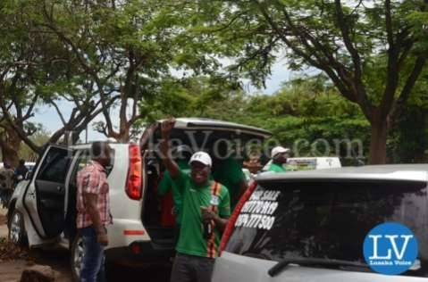 Edgar Lungu supporters in Lusaka
