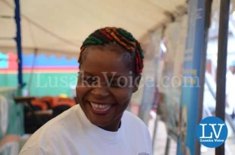 Esther Phiri arrives at the event