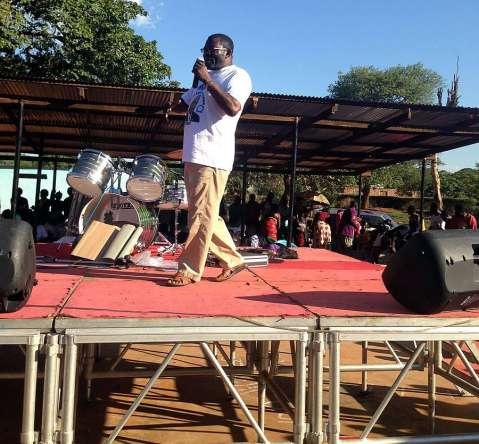 Dr Peter Machungwa speaking