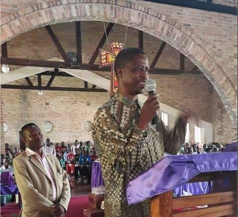 Edgar Lungu attends Church Service in Mansa
