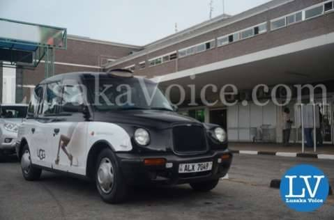Evelyn Odoro takes a Zambia Discounts London Cab after arriving in Lusaka