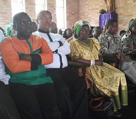 Hon. Egar Lungu, his wife Esther and Members of the Central Committee, Ministers and Members of Parliament attending the Church Service at Mansa Cathedral
