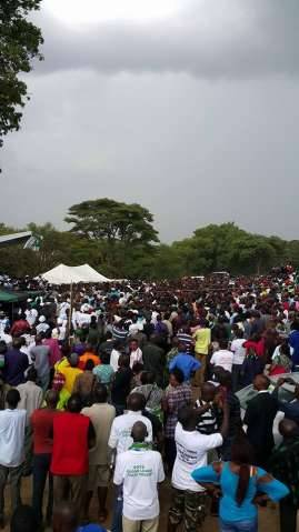 LUNGU AT LAUNCH OF THE NATIONAL CAMPAIGN AT FREEDOM PARK IN KITWE ON 6TH DECEMBER 2014..