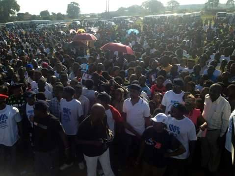 MMD Rally in Kitwe on 7th December 2014