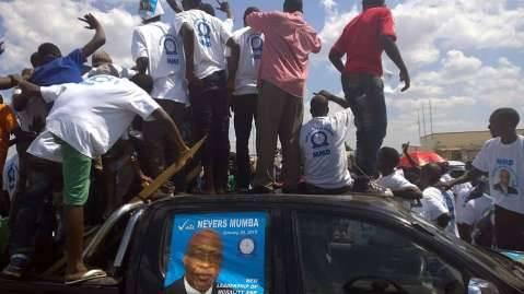 MMD Supporters trying to get a glimpse of Dr Mumba.
