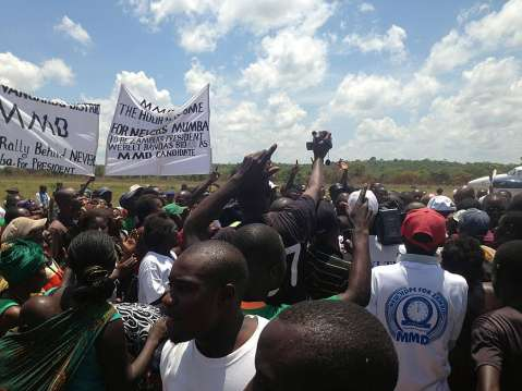 MMD supporters welcoming Nevers Mumba