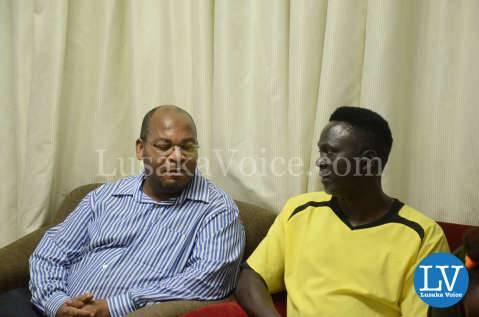 Ponga Liwewe, Anthony Mwamba at   Media Briefing for Ester Phiri vs Evelyn Odoro Boxing