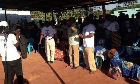 Nevers Mumba preparing to speak